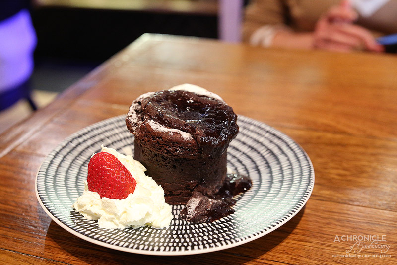 Vault Cafe Bar Restaurant - Chocolate Lava Cake with Ice Cream