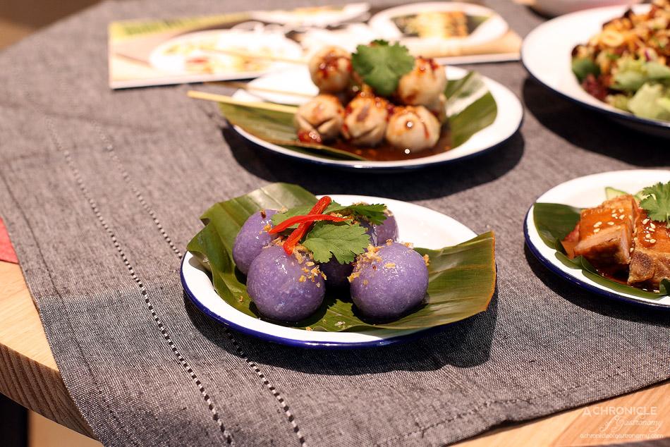 Miss Siam - Thai Sago Dumpling - steamed sago flour dumplings filled with sweet turnip and crushed peanuts