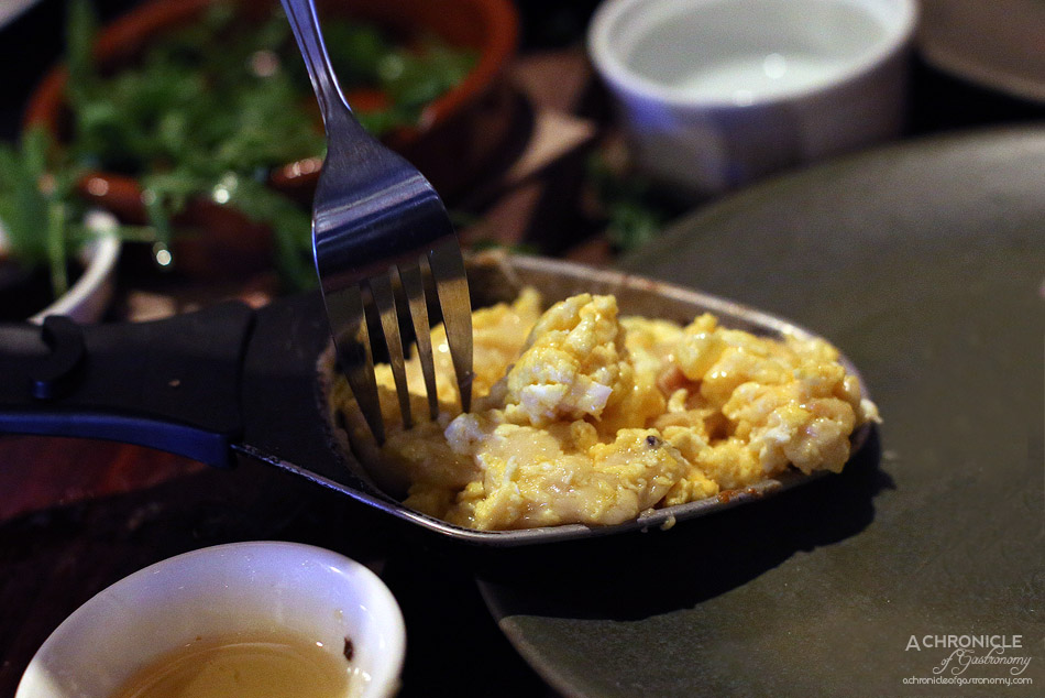 Shifty Chevre - Cheesy scrambled eggs - Cheese fondue for 2 - White wine, Emmental, Abondance, Maasdam w sourdough bread (150g cheese for $27 pp)