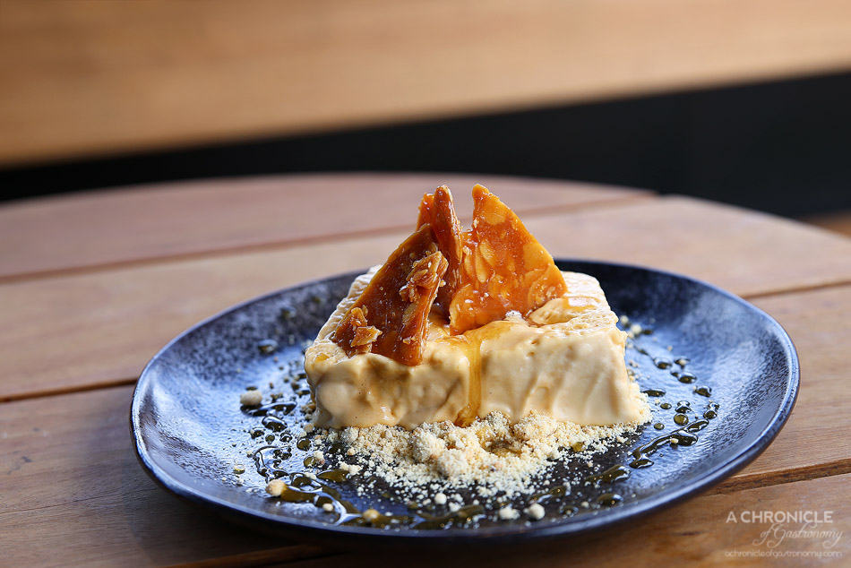 Corner Hotel - Burnt Honey Parfait - almond nougatine, coffee milk crumb ($13)