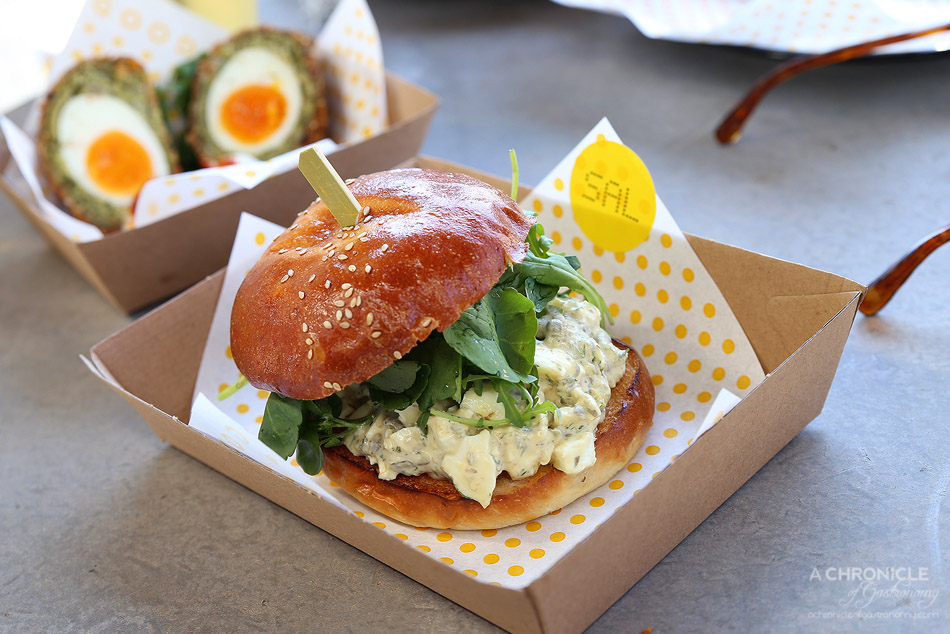 Good Egg - Sal - Egg salad w mustard aioli, watercress, rocket & capers ($9+1 for anchovies)