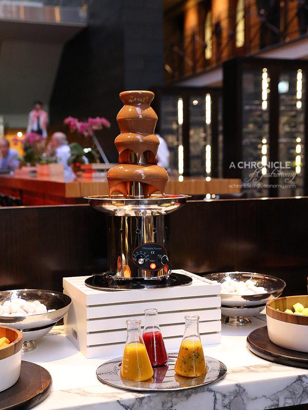 InterContinental Melbourne High Tea at Alluvial - 54.5% Callebaut chocolate fountain