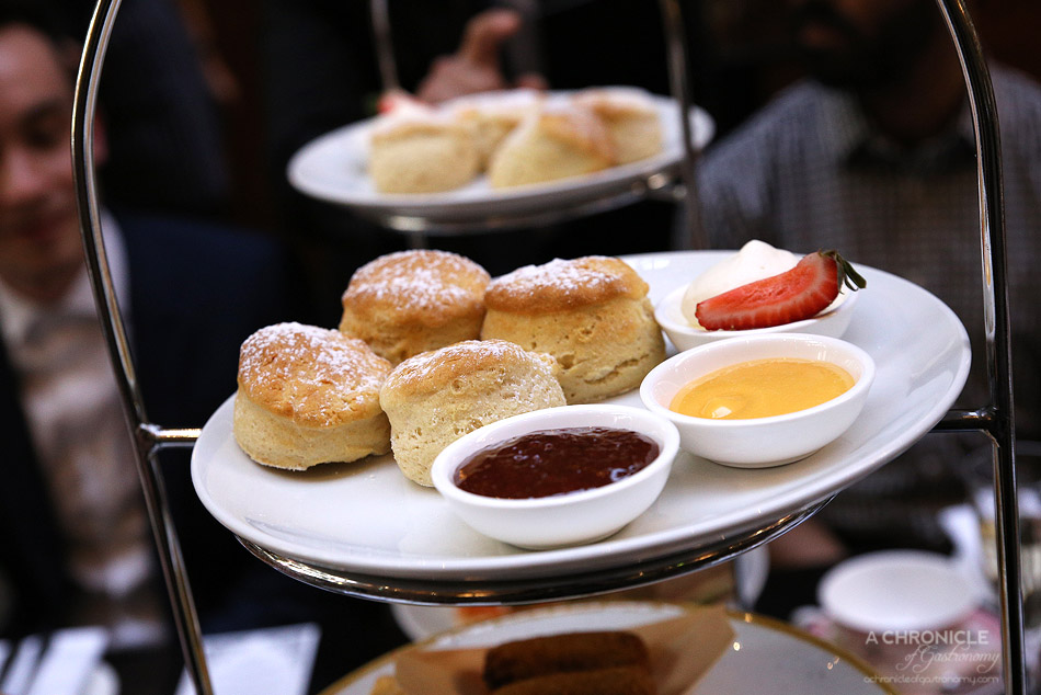 InterContinental Melbourne High Tea at Alluvial - Buttermilk scones With Darbo jams, lemon curd, double cream