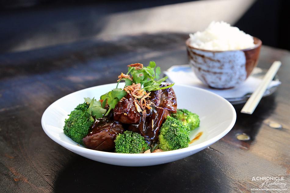 Robarta - Teriyaki Steak - Eye Fillet steak is pan fried and finished in a teriyaki sauce (200gm for $18)