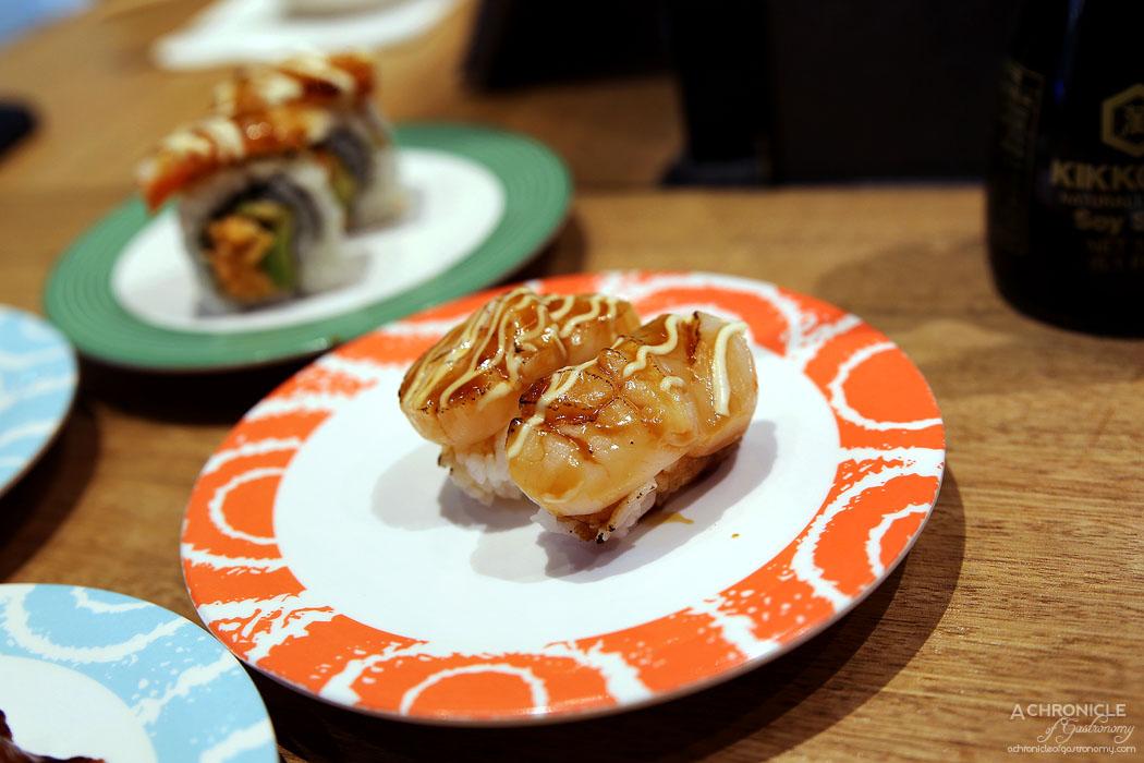 Sushi Jiro - Aburi Hotate Nigiri w Teri Mayo ($3.50)