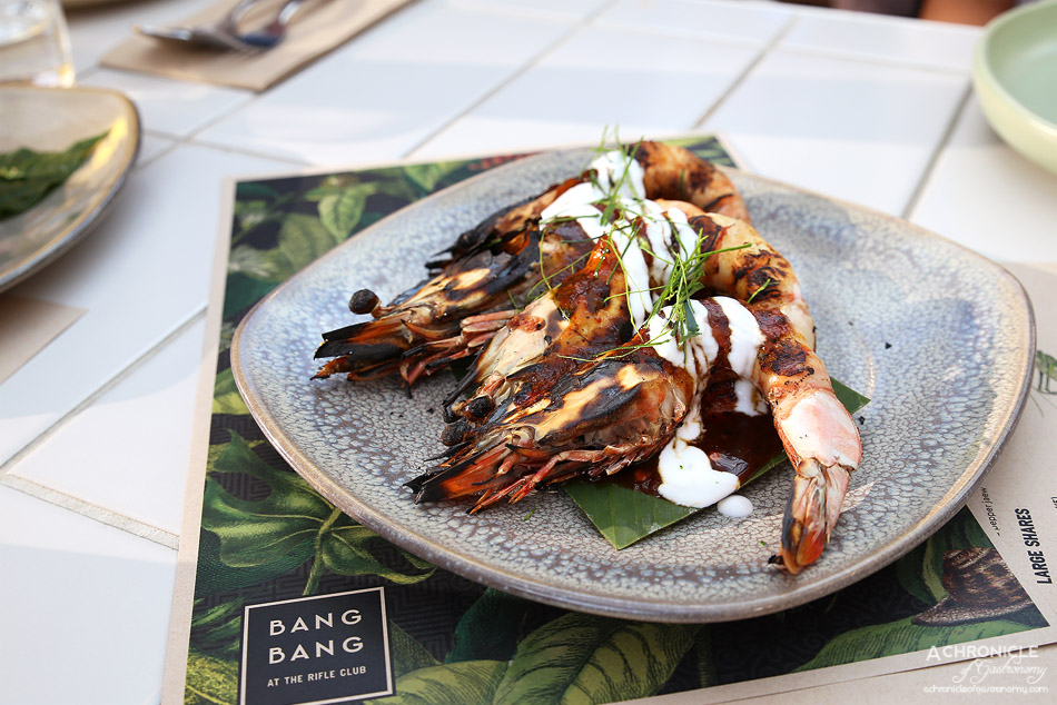 Bang Bang at the RC - Chargrilled King Prawn w roasted shallot, lime ($7.50 ea)