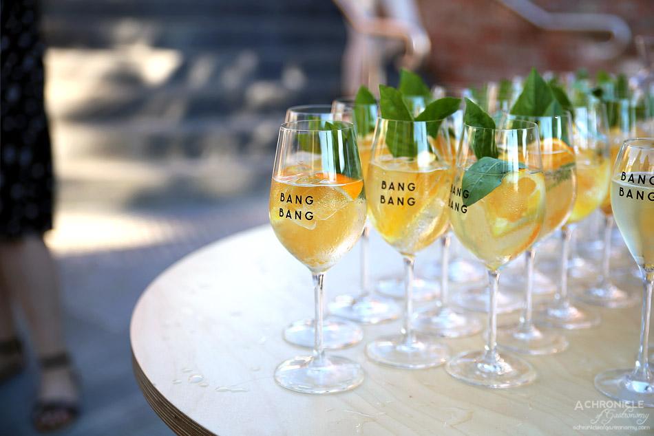 Bang Bang at the RC - Vermouth Spritz - Dolin Dry Vermouth, orange and holy basil, soda