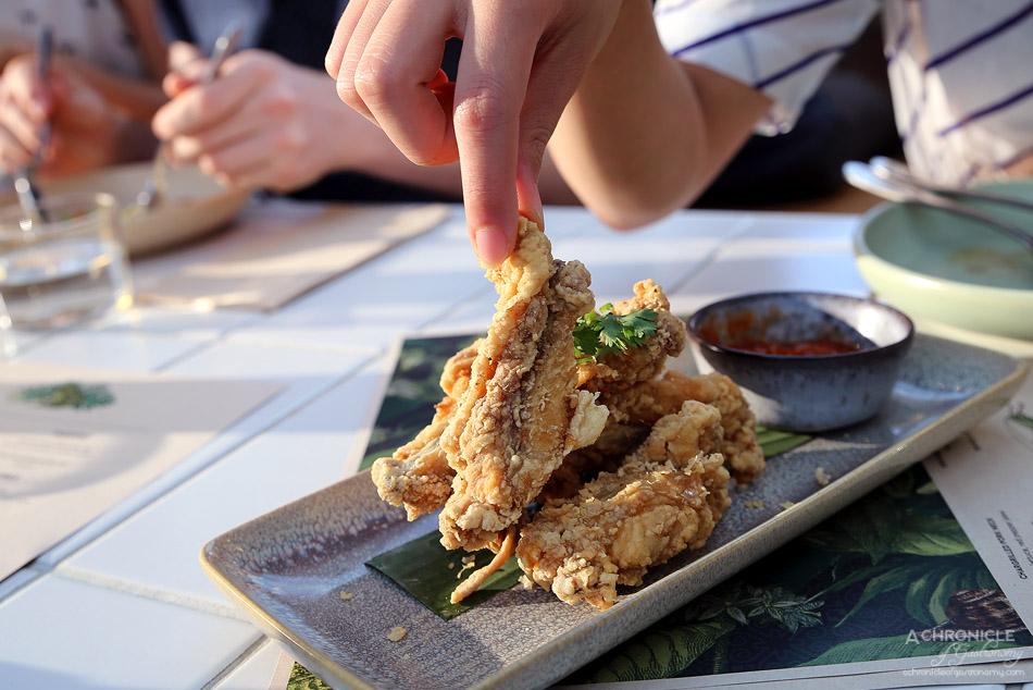 Bang Bang at the RC - Crispy Chicken Ribs w house spice, Bang Bang sriracha ($15)