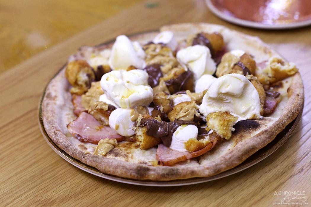 Chatty Vespa - Nutty Nutello - Nutella, marshmallows, peanut butter, doughnuts, ice cream and bacon pizza