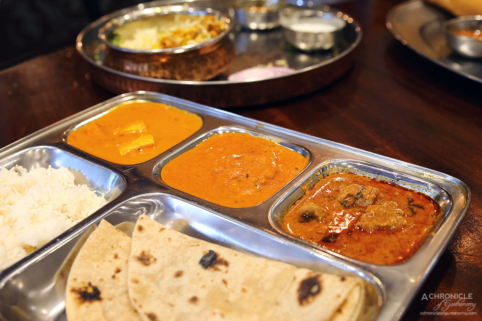 Dosa Hut CBD - 'Deal 2' with three curries, rice and unlimited roti ($9,95)