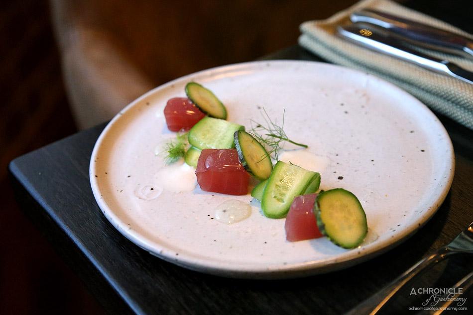MPD Steak Kitchen - Tuna, apple, yuzu, cucumber, wasabi