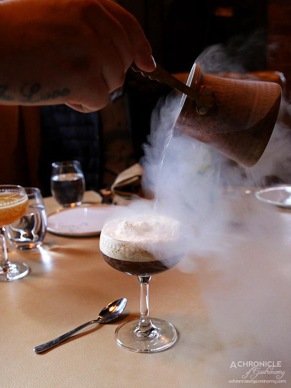 MPD Steak Kitchen - MPD Espresso Martini - 666 Autumn Butter Vodka, Double Drip Coffee Liqueur, Little Drippa Cold Dripped Coffee, Brown Vanilla Sugar Syrup, House-made Gingerbread nitrogen ice cream ($22)