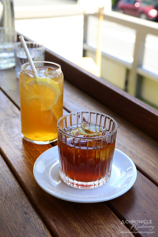 Stepping Stone - 8 hour single origin cold drip ($4) Stoned Ice Tea ($3.50)