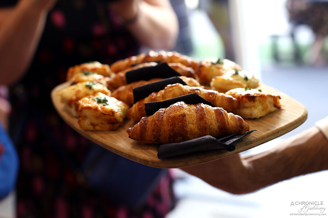 Chez Mademoiselle - Ham and cheese croissant, croque monsieur w truffle oil