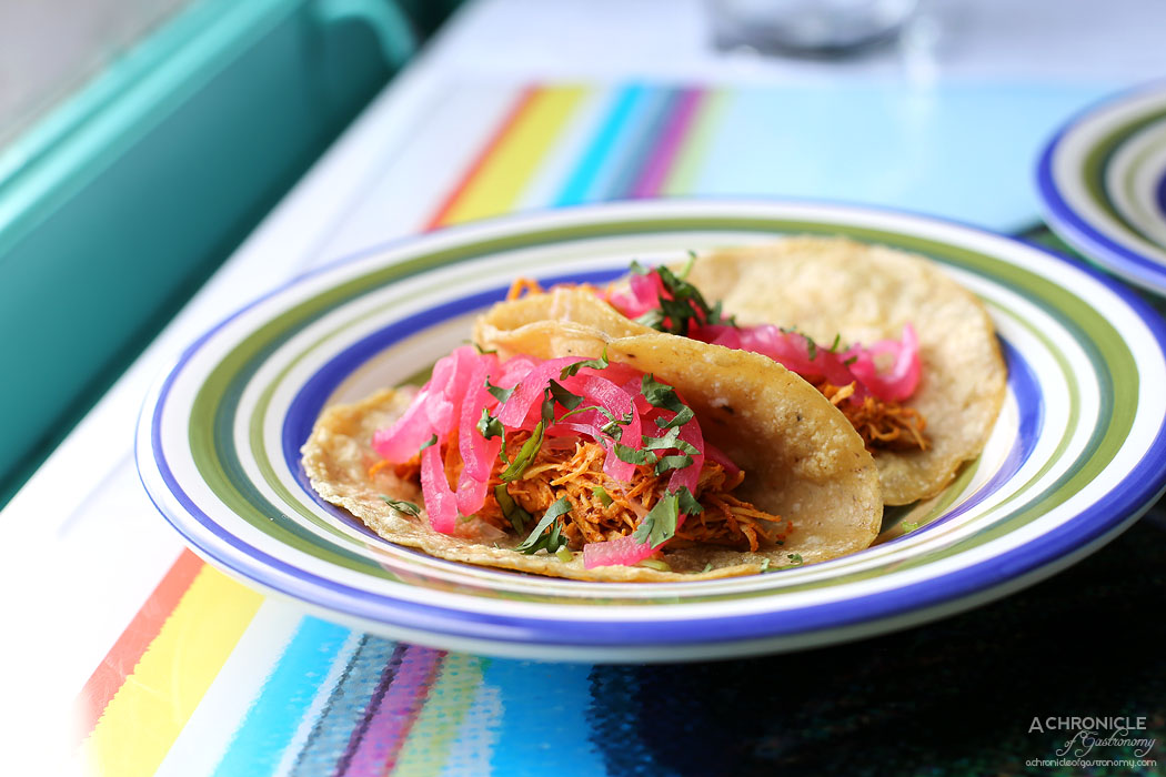 El Sabor by El Cielo - Pollo pibil - Chicken marinated in orange-lime juice and Achiote, pickled red onion (2 for $12)