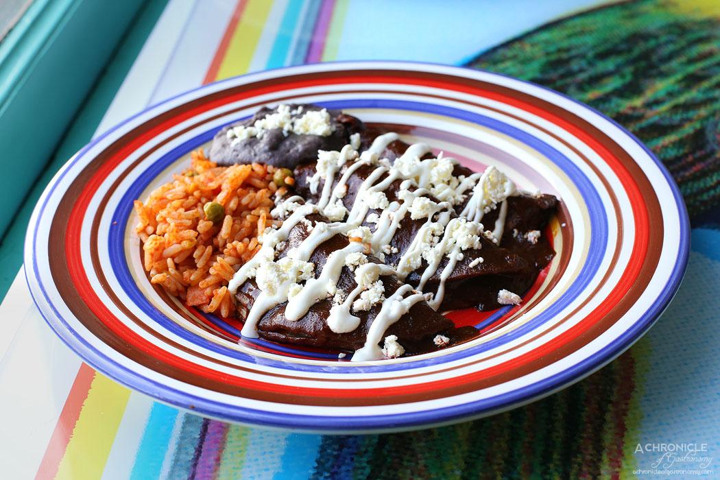 El Sabor by El Cielo - Chicken mole enchilada w fresh cheese, cream, onion ($24)
