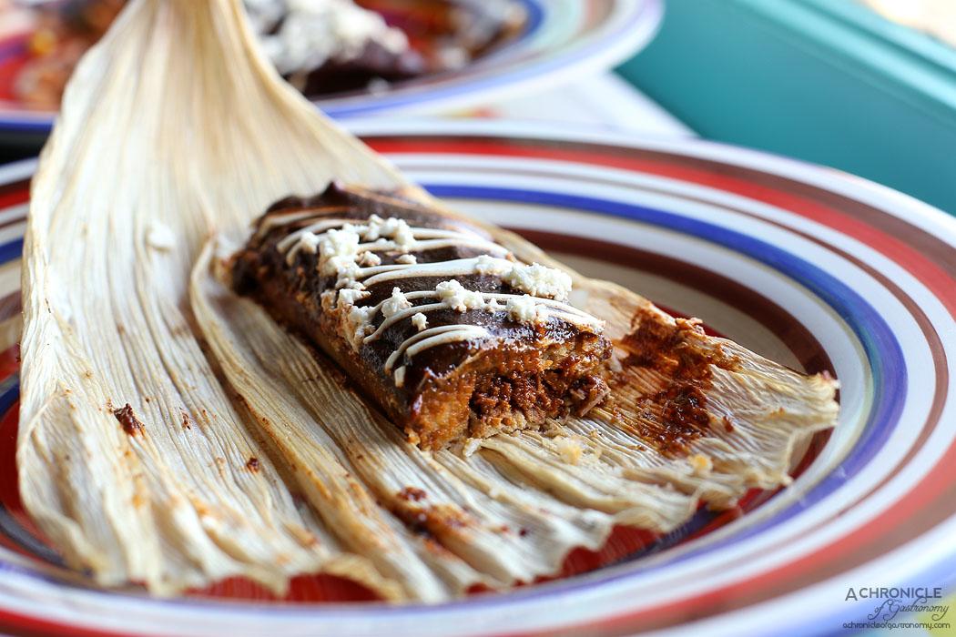 El Sabor by El Cielo - Tamales - Fresh steamed corn masa pockets filled w chicken mole ($18)