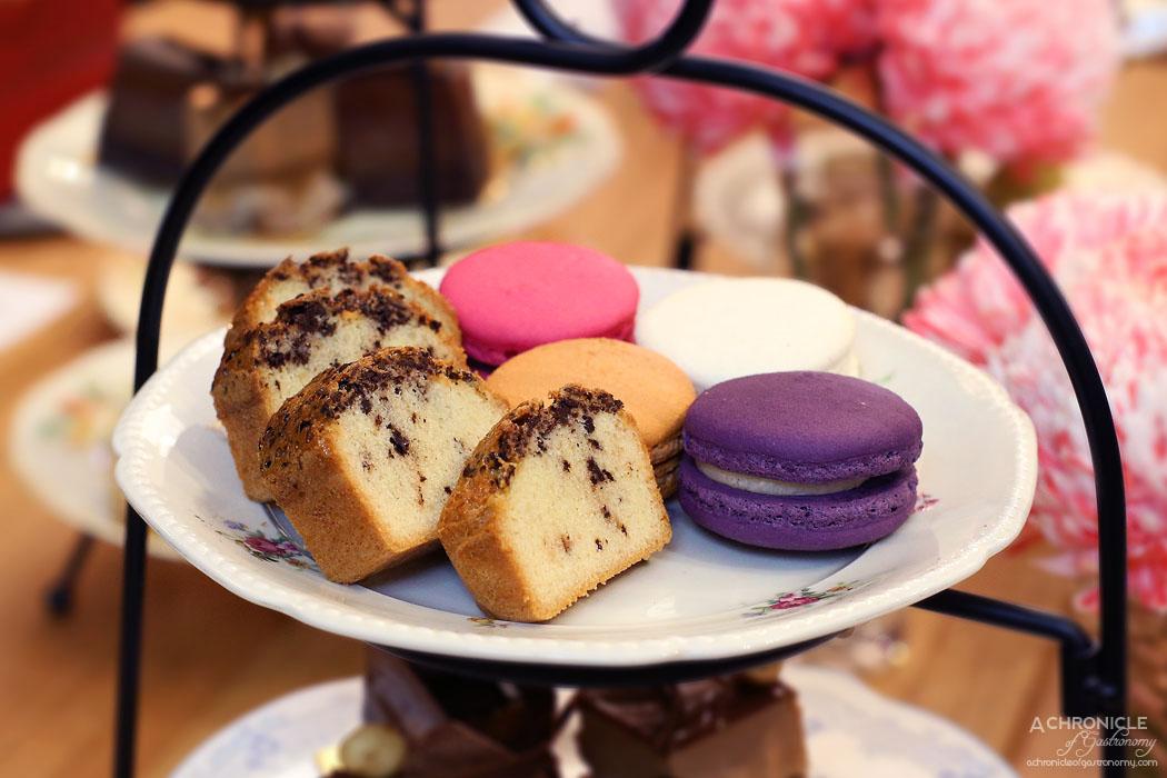 Ganache Chocolate - High Tea - Vanilla, lavender, raspberry, salted caramel macarons, Parisian Teacake with rooftop honey