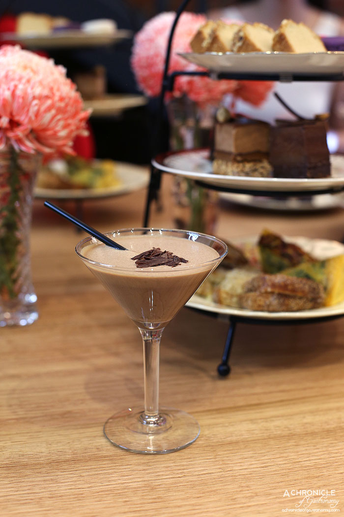 Ganache Chocolate - The Urban Cocktail - Kahlua, Baileys, Frangelico, dark chocolate ganache, vanilla bean gelato, rooftop Urban Honey ($13)