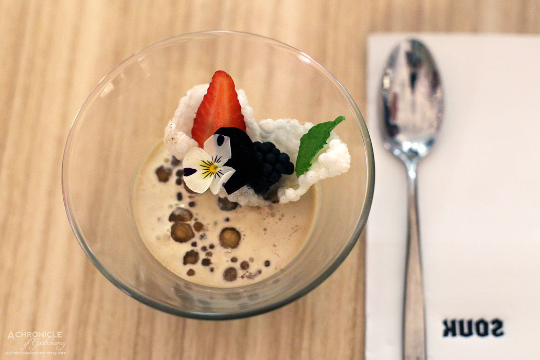Souk - Adanali Osman - Slow cooked black tapioca pearls in a sweet Turkish coffee cream and white crispy tapioca ($13.50)