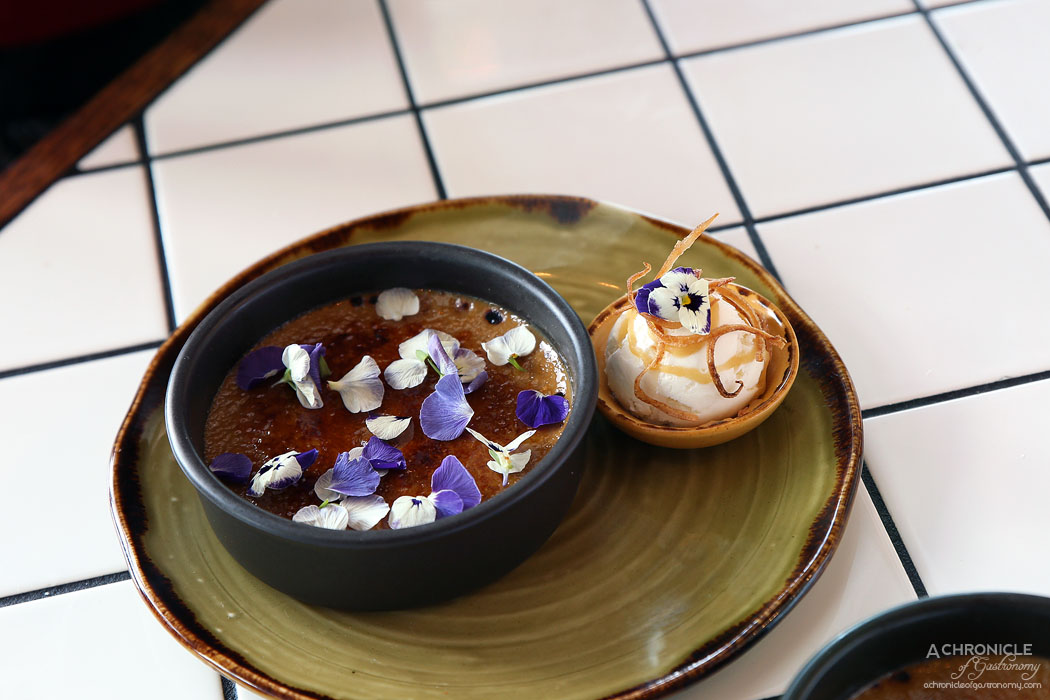 Mamas Buoi Chadstone - Vietnamese coffee creme brulee served with iced coconut coffee $14