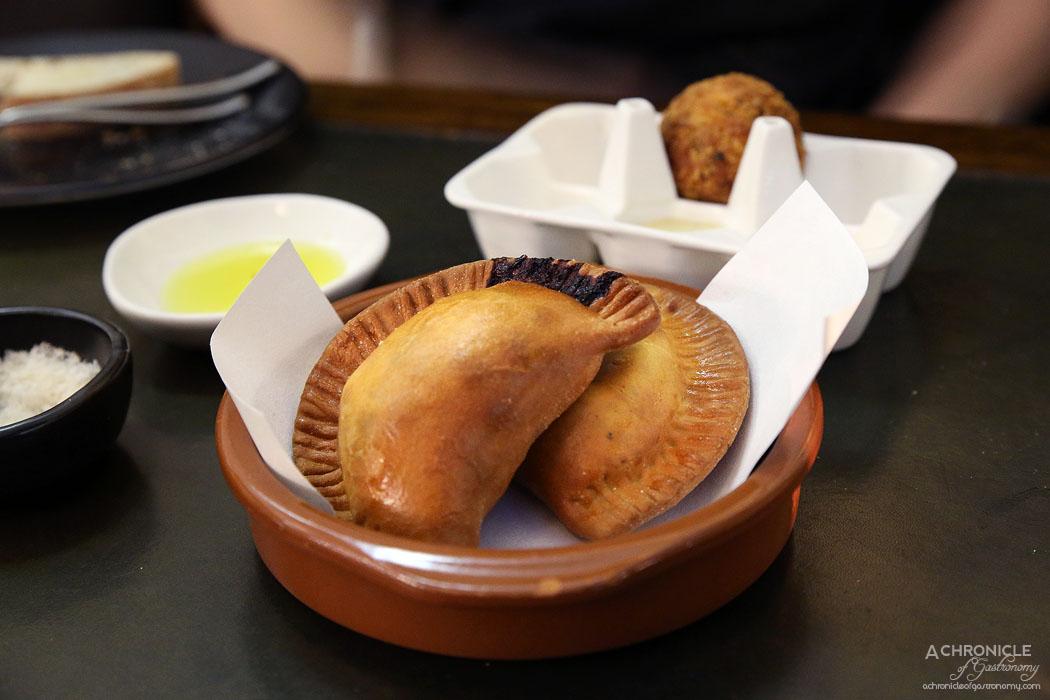Massi - Mini impanata filled w pork, peas and pecorino ($5 ea) Arancino alla norma ($5 ea)