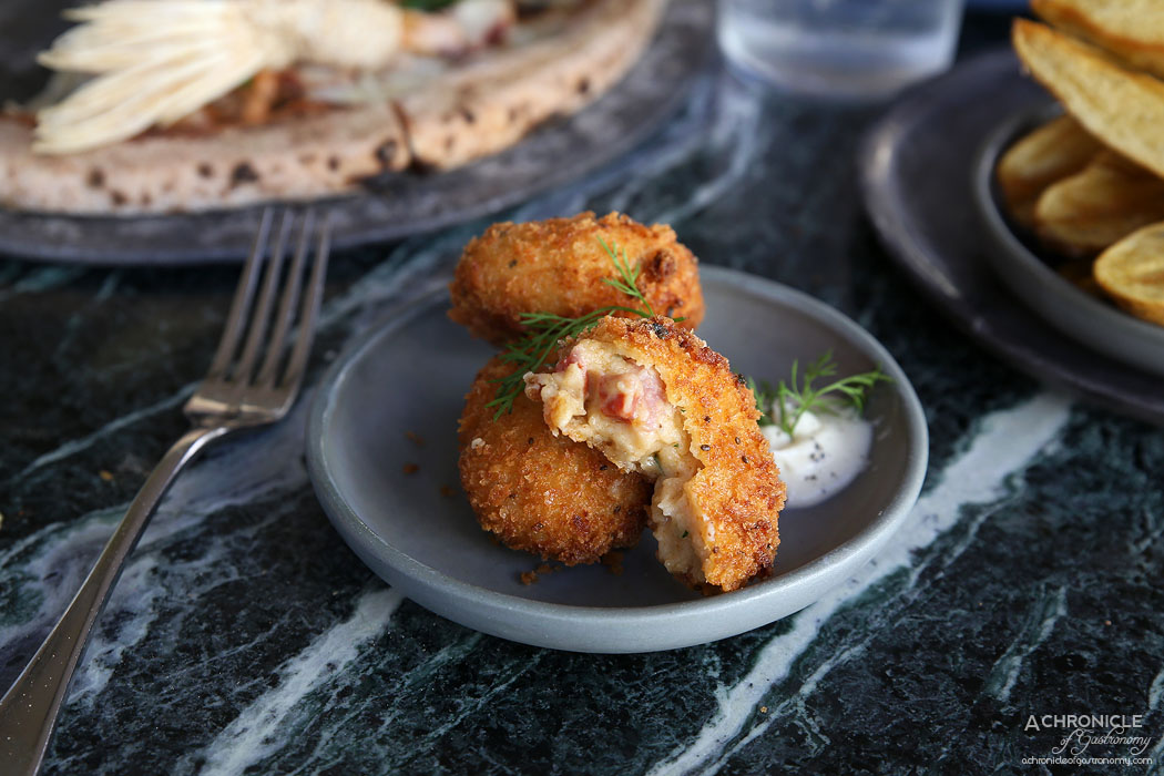 Abacus - Croquettes of speck and gruyere, parsley root ($4.40 ea)