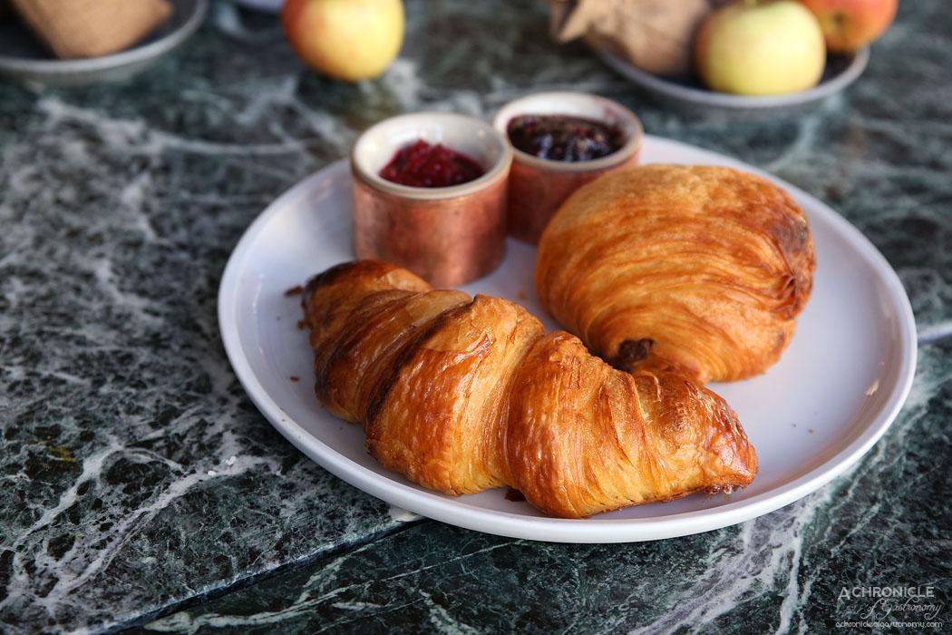 Abacus - Woodfired croissant, pain au chocolat, strawberry jam, blackberry jam