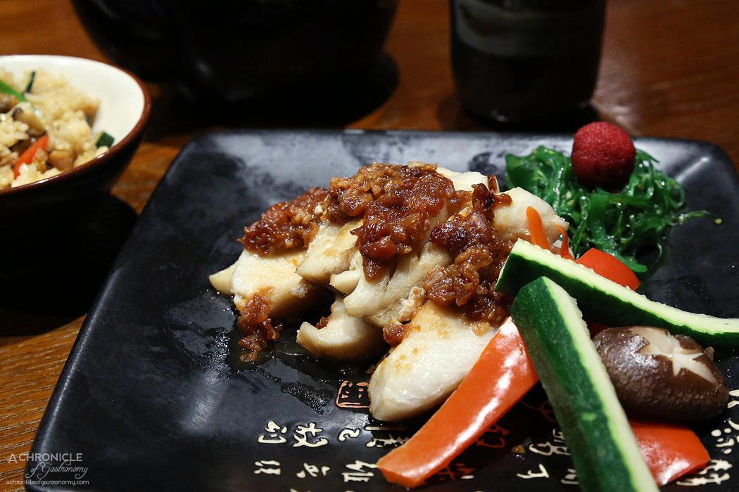 Hibachi - Black Cod Moro-Misoyaki - Grilled Black Cod marinated in Kinzanji Miso ($36.80)