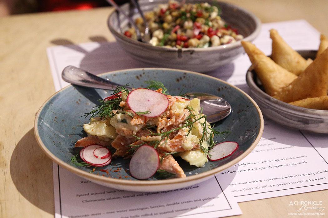 Mr Lawrence - House smoked trout w Lebanese potato salad