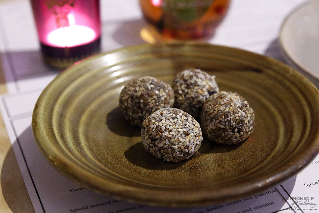Mr Lawrence - Tamariya - Iranian date balls rolled in toasted sesame and coconut