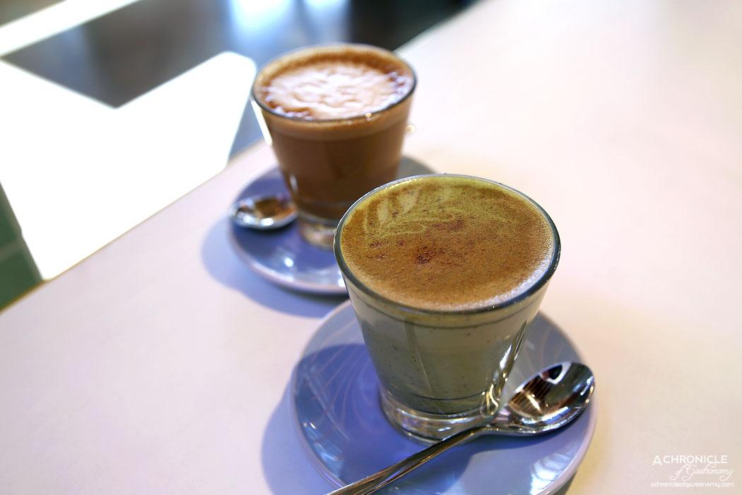 Rustica Canteen Hawthorn - Matcha Maiden latte ($4.50) Latte ($3.80)