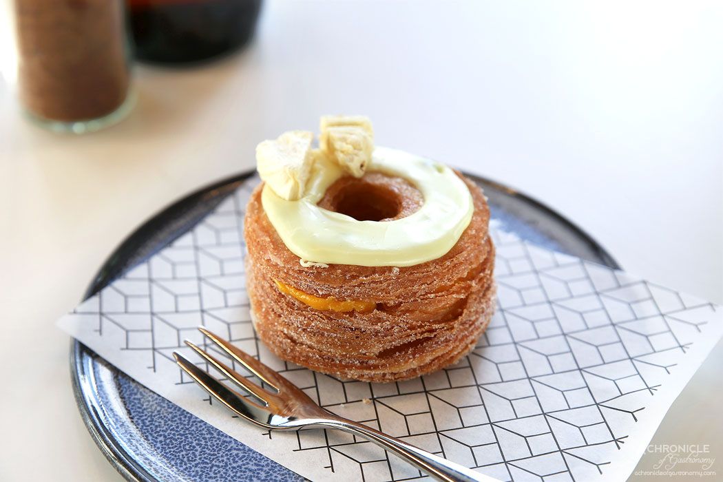 Rustica Canteen Hawthorn - Passionfruit and mango cronut ($7.50)