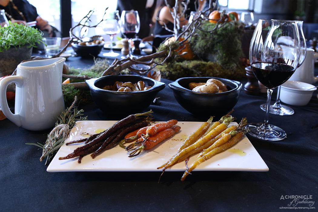 Woolshed - Garlic roasted Kipfler potatoes, Roasted heirloom carrots and Jerusalem artichokes