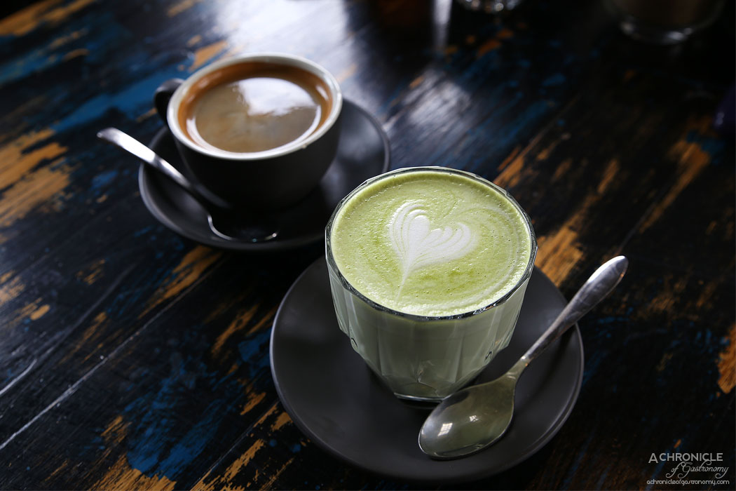 Boot Factory - Matcha Latte ($4.50) Long Black