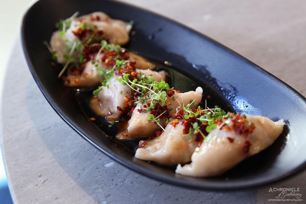 Oriental Teahouse - Chilli Pork, Beetroot & Sesame Dumplings (6 for 9.80)