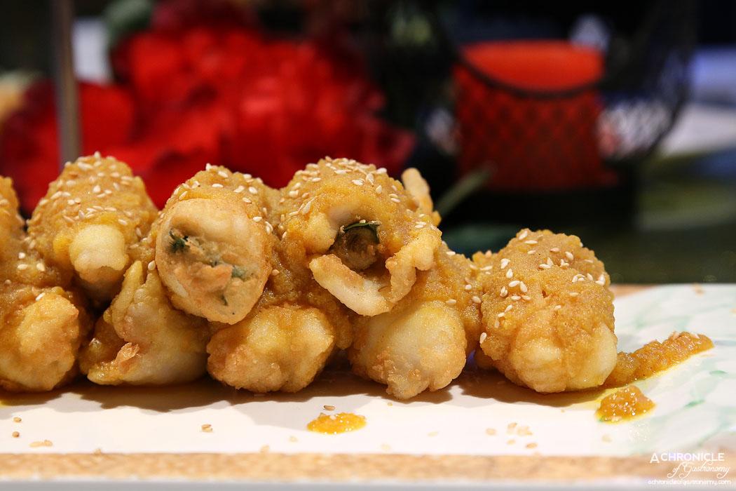 Secret Kitchen Dai Long Banquet - Golden Fried Fish Rolls w Basil Leaves