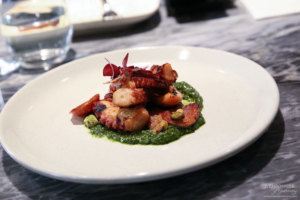 Pure South Downstairs - Grilled Hardy Family octopus, chorizo & pesto