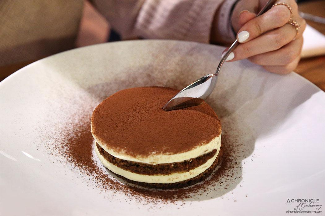 Tutto Bene - Tiramisu - tiramisu mascarpone sabayon layered with coffee soaked savoiardi biscuits