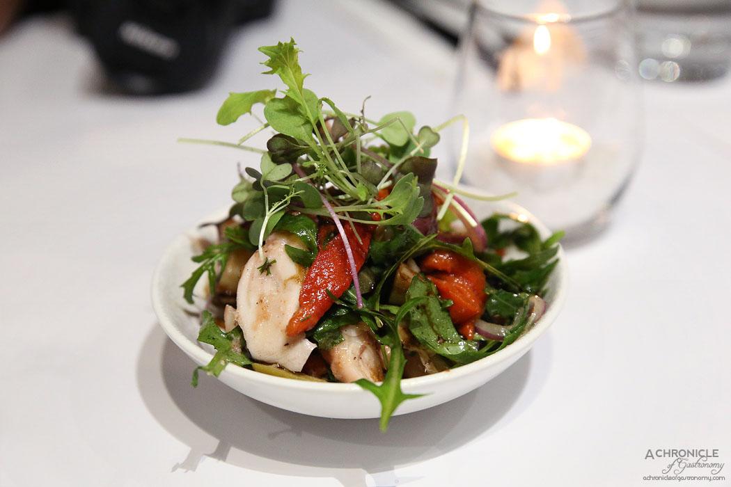 ENA Greek Street Food - Pickled octopus, smoked capsicum and potato salad