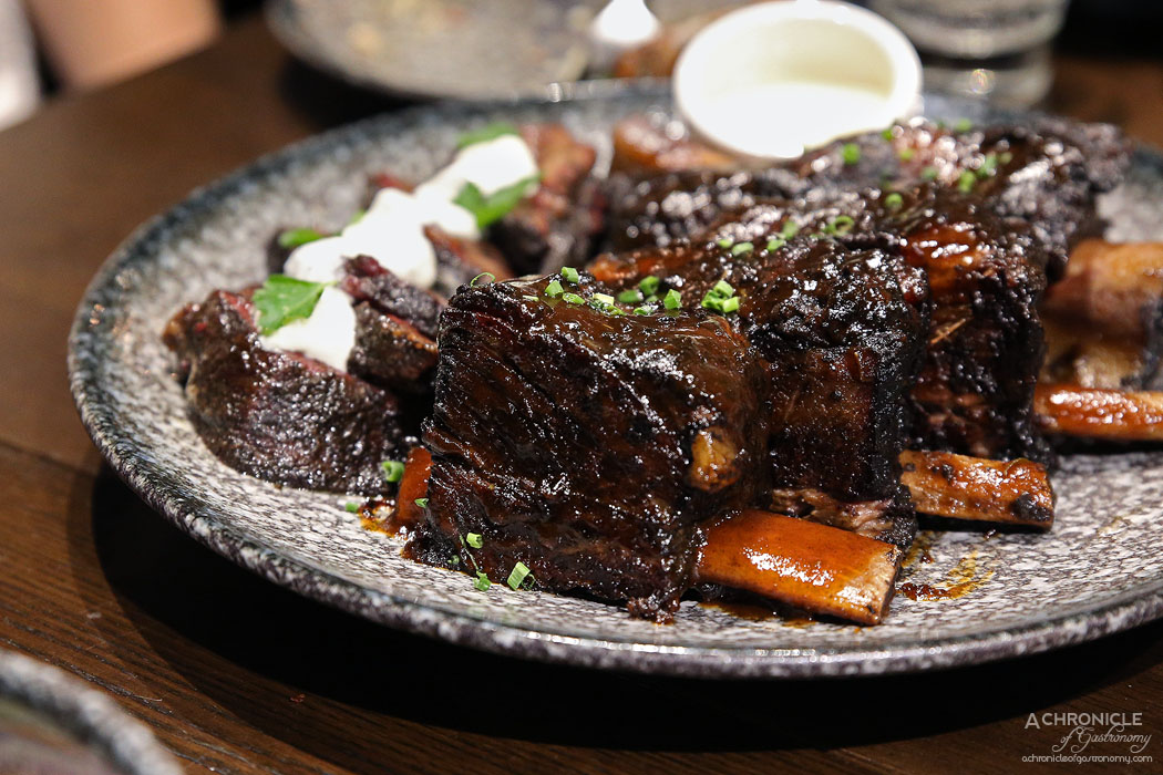 Third Wave Cafe - Beef Cheek and Beef Ribs - Smoked using a special 9 spice dry-rub and Hickory wood