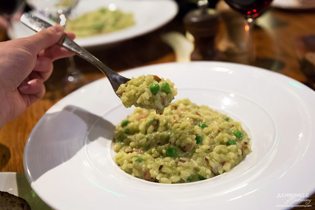 Tutto Bene - Risi e Bisi - Risotto with fresh peas, pancetta, shallots and parmiagiano