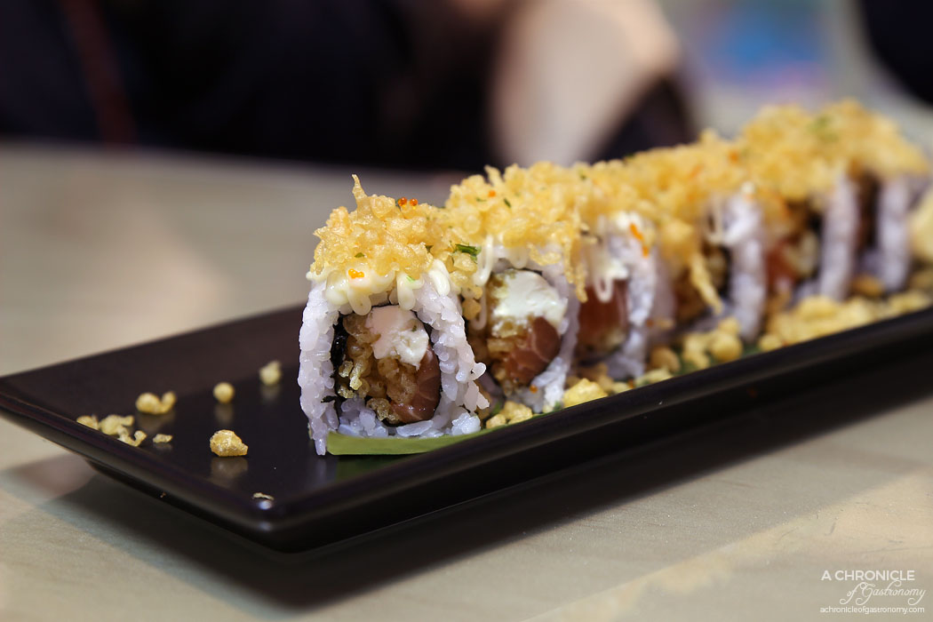 Aoki - Salmon cream cheese rolls ($16.90)