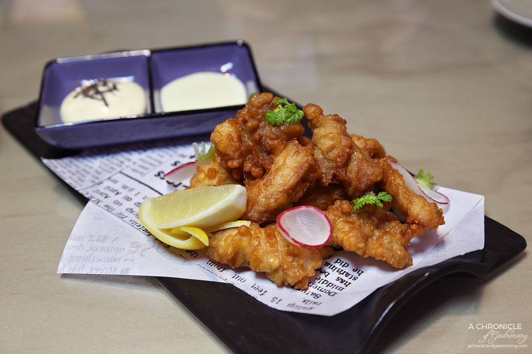 Aoki - Japanese KFC - Deep fried Bannockburn free range chicken karaage with truffle mayo and wasabi mayo ($14.90)