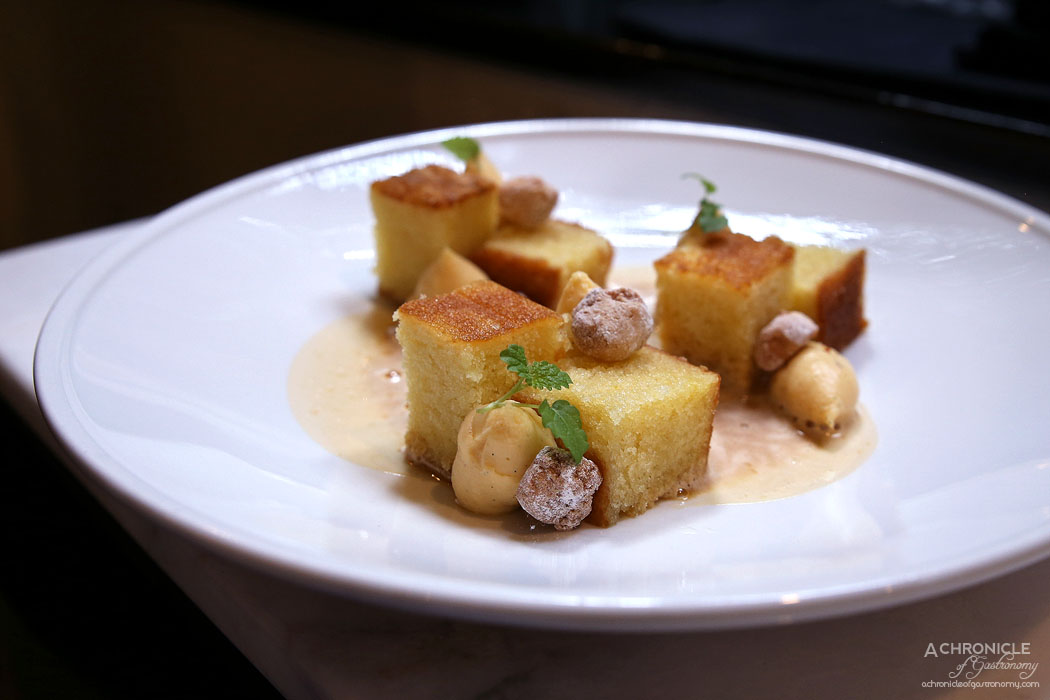 Cecconi's - Zabaione, olive oil torta, creme patisserie, candied almonds ($19)