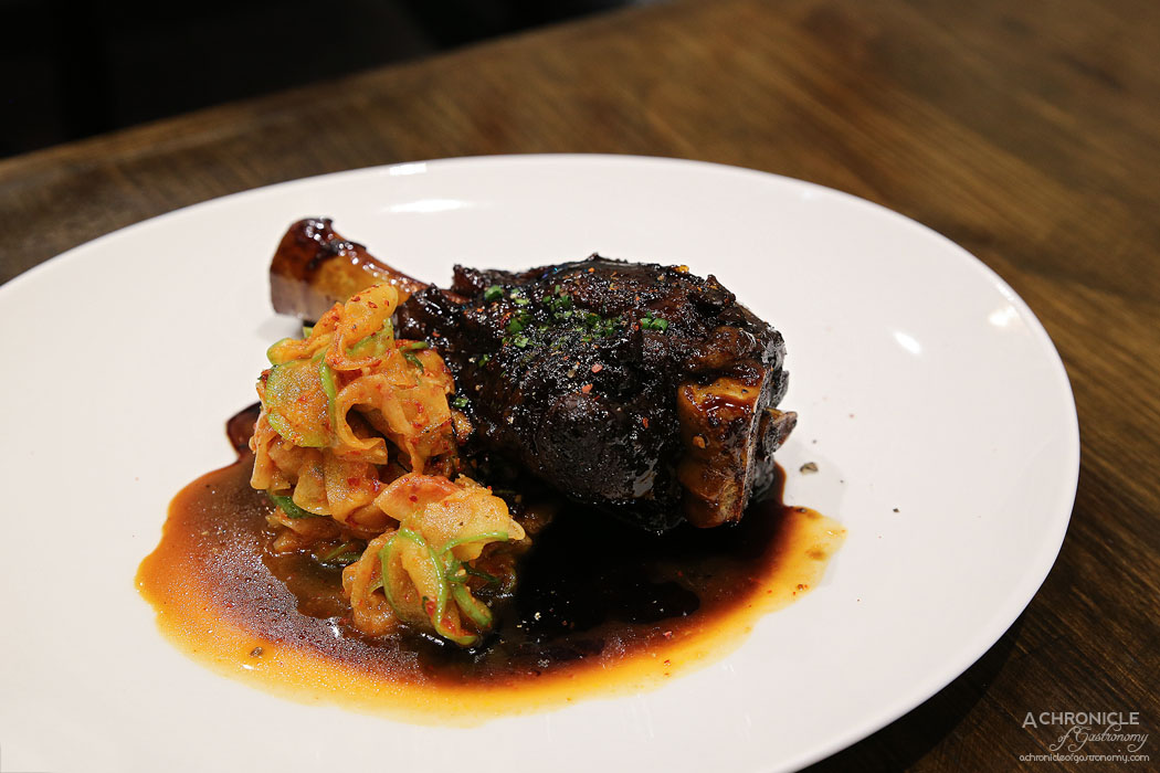 Imbue Food and Wine - Master stock lamb shank with daikon and apple kimchi ($26)