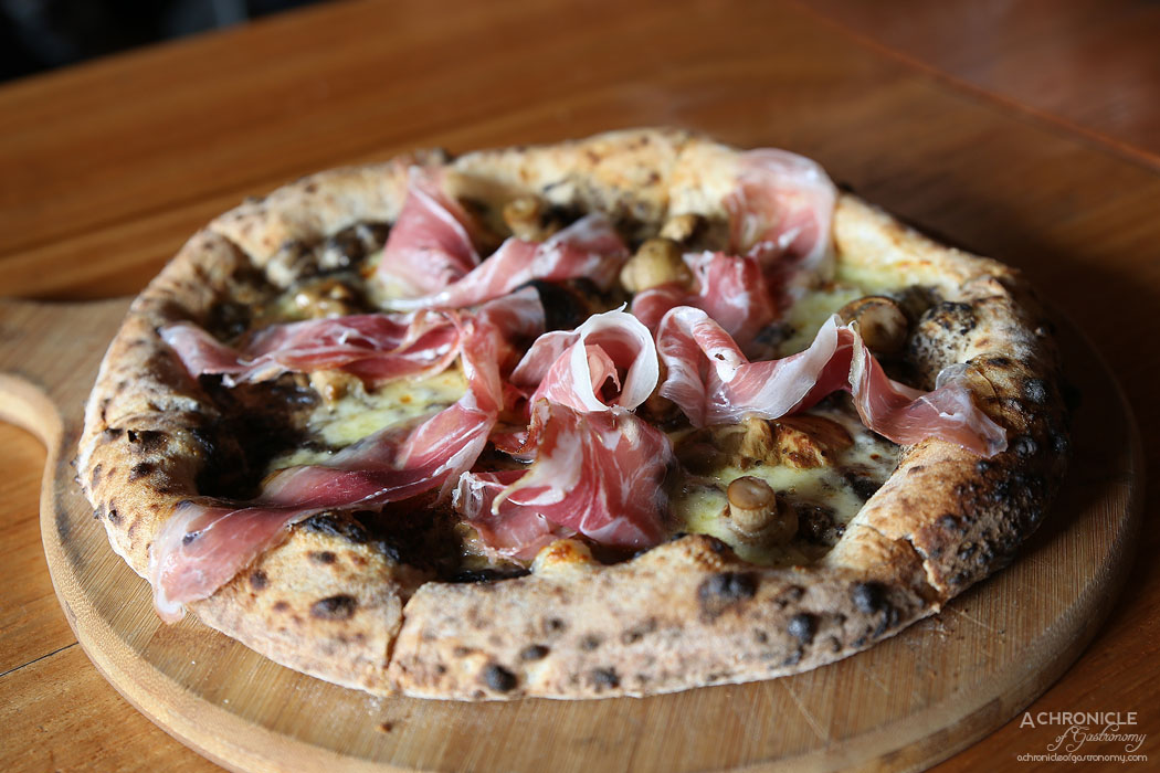 Mother Dough - Il Porcino - Truffle paste, porcini mushrooms, speck, smoked scamorza ($27)