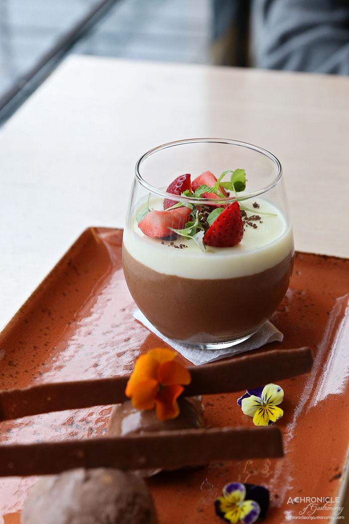 Mr Hobson - Chocolate Layer - Dark chocolate bavarois, white chocolate panna cotta, chocolate mascarpone, chocolate ice cream, chocolate tuille ($15)