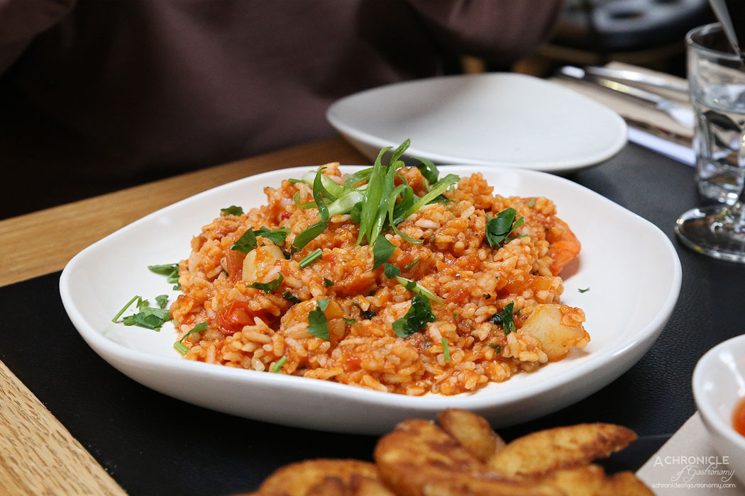 Piccolino - Risotto Sposa - Chilli, prawns, scallops, cherry tomato, napoli ($27)