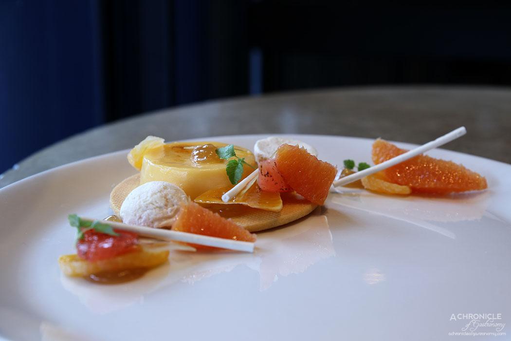 The Botanical - Winter citrus, roast lemon gel, verbena sable, nougat glace ($18)